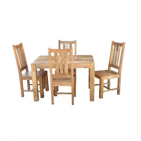 118cm light mango wood small dining table