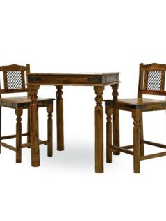sheesham wood bar chair set