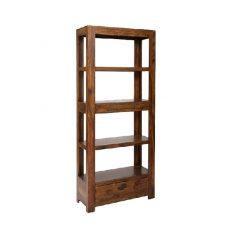 sheesham wood bookcase with 2 drawers
