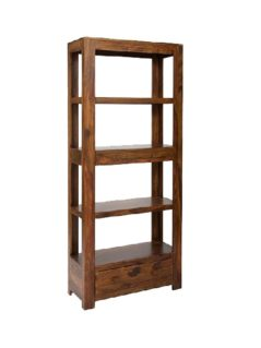 sheesham wood bookcase with 2 drawers