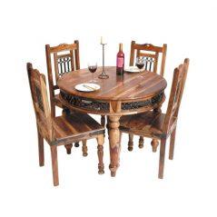 sheesham wood circular dining table