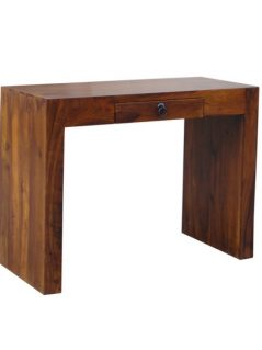 sheesham wood console table with drawer