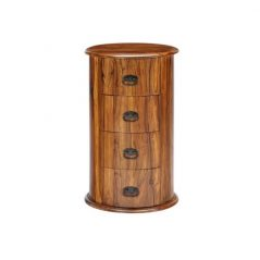 sheesham wood drum chest of drawers