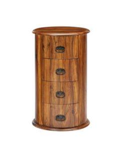 sheesham wood drum chest of drawers
