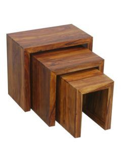 sheesham wood nest of 3 tables_4
