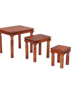 sheesham wood nest of 3 tables_5
