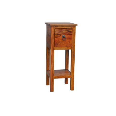sheesham wood telephone table with drawer