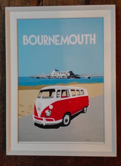 vintage style bournemouth print