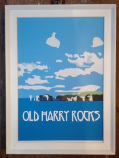 vintage old harry rocks print
