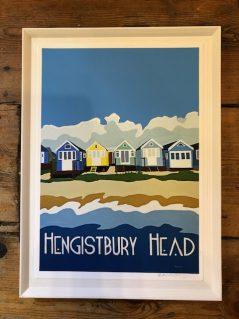 vintage style Hengistbury head framed print