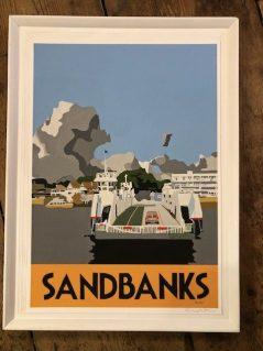vintage style Sandbanks framed print