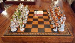 Handmade Italian chess set Battle of Camelot