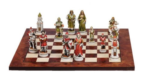 Nigri chess set battle of camelot handmade in Italy