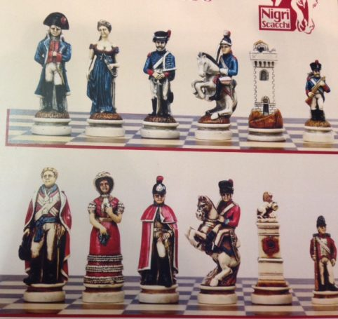 battle of waterloo Nigri chess piece handmade in Italy