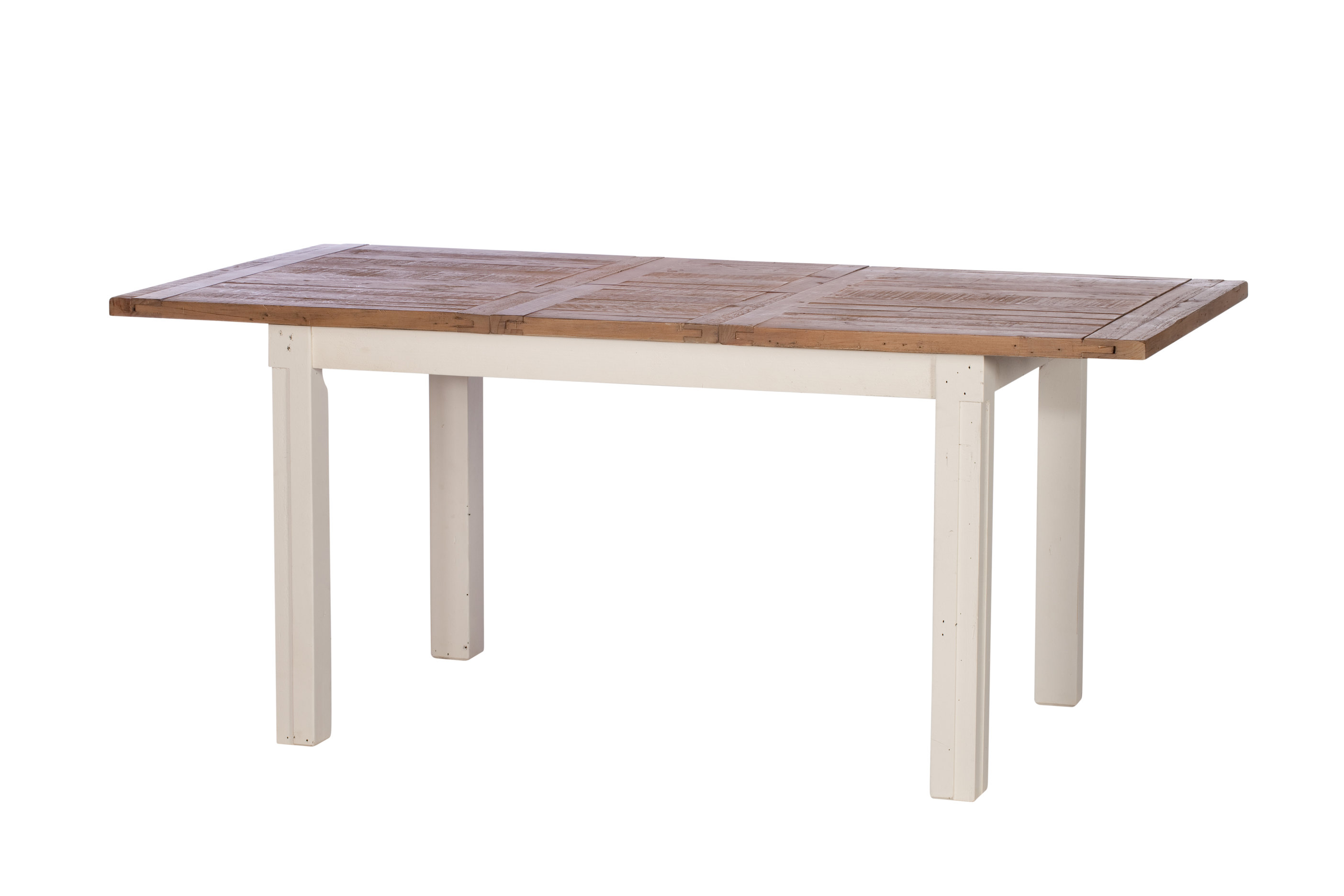 Solid reclaimed wood extending dining table 5 yrs warranty bournemouth poole - Extending wood dining table ...