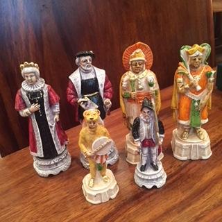 handmade Italian Nigri Scacchi chess set – battle of Incas