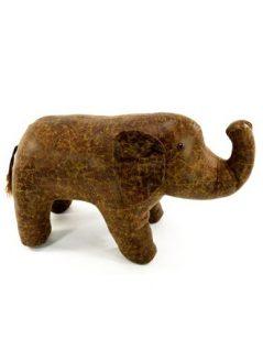 faux leather elephant seat footstool