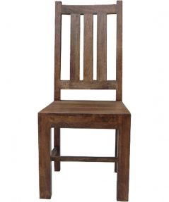 SOLID DARK MANGO WOOD DINING CHAIR