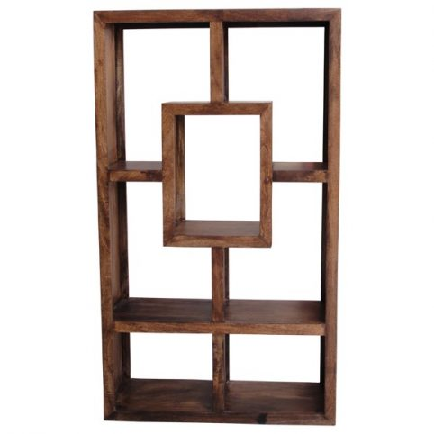 Dark mango wood 7-hole unit