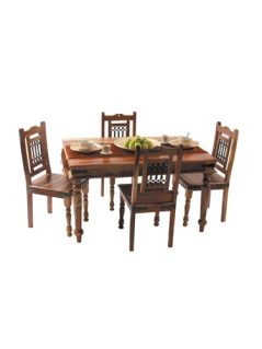Sheesham Dark Wood Dining Table