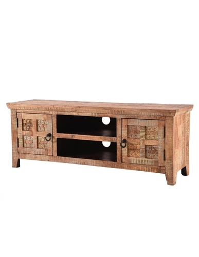 Handcarved Indian Rustic Painted Wooden Furniture Range Kerala
