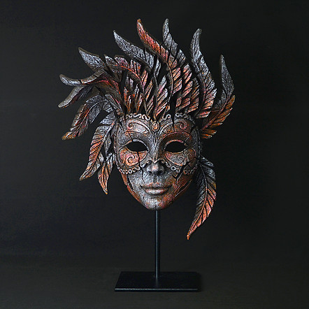 Handpainted Mask Sculpture