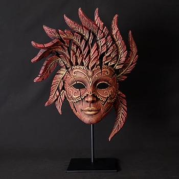 handpainted venetian mask sculpture from UK artist