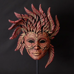 handpainted venetian mask sculpture from UK artist