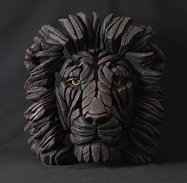 Handpainted limited edition lion sculpture