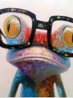 Frog Oil Painting