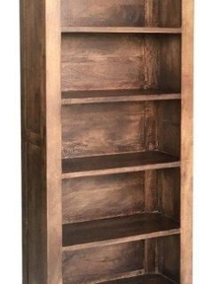 Indian Dakota dark Mango Wood Large Bookcase