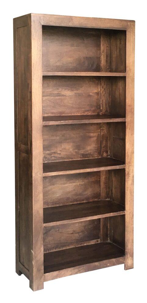 Dark Mango Wood Large Bookcase