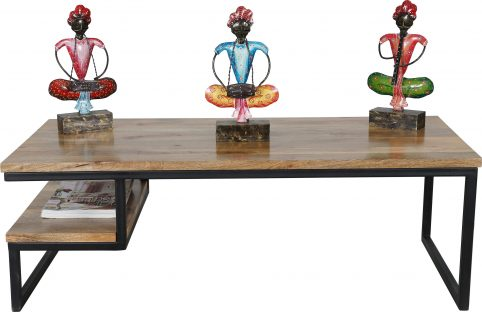 contemporary industrial style light mango wood coffee table