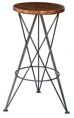 sheesham bar stool with metal legs