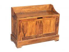 Small Sheesham wood storage cabinet