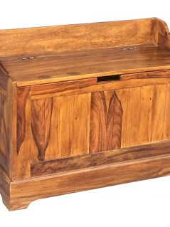 Small Sheesham wood storage cabinet