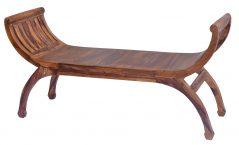 Large Sheesham wood bench