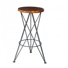 industrial style sheesham wood bar stool