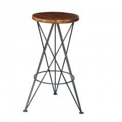 industrial style sheesham wood bar stool