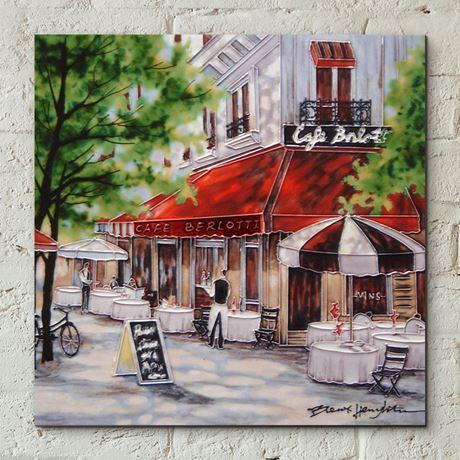Cafe Berlotti ceramic tile wall art