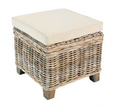 Handmade rattan furniture storage stool