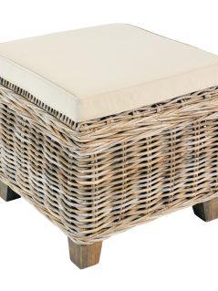 Handmade rattan furniture storage stool