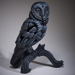 Hand Painted Barn Owl Sculpture