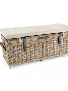 handmade rattan storage bench