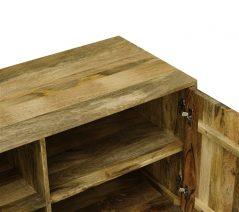Industrial Style Light Mango Wood Small 2-door Sideboard
