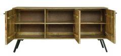 Urban Retro Range Industrial Style Light Mango Wood 3-door Sideboard with Metal Legs