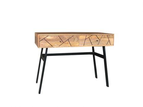 Urban Retro Range Industrial Style Light Mango Wood 2-drawer Console Table Hall Table