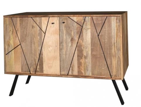 Urban Retro Range Industrial Style Light Mango Wood2-door Sideboard