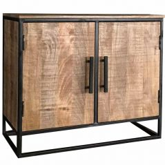 Industrial Style Light Mango Wood 2-door Sideboard