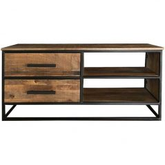 Industrial Style Light Mango Wood 2-drawer TV Stand